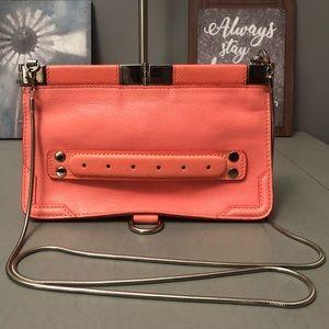 Proenza Schouler Pink Coral Evening Clutch w/strap